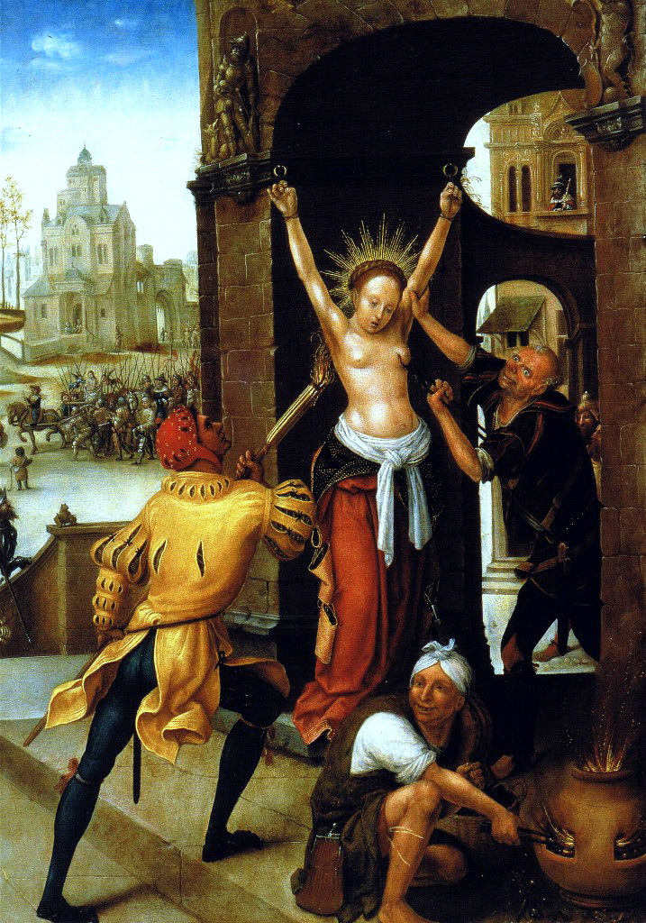 The-Martyrdom-of-St -Barbara-1528 -By-Jean-The-Elder-Bellegambe-3a