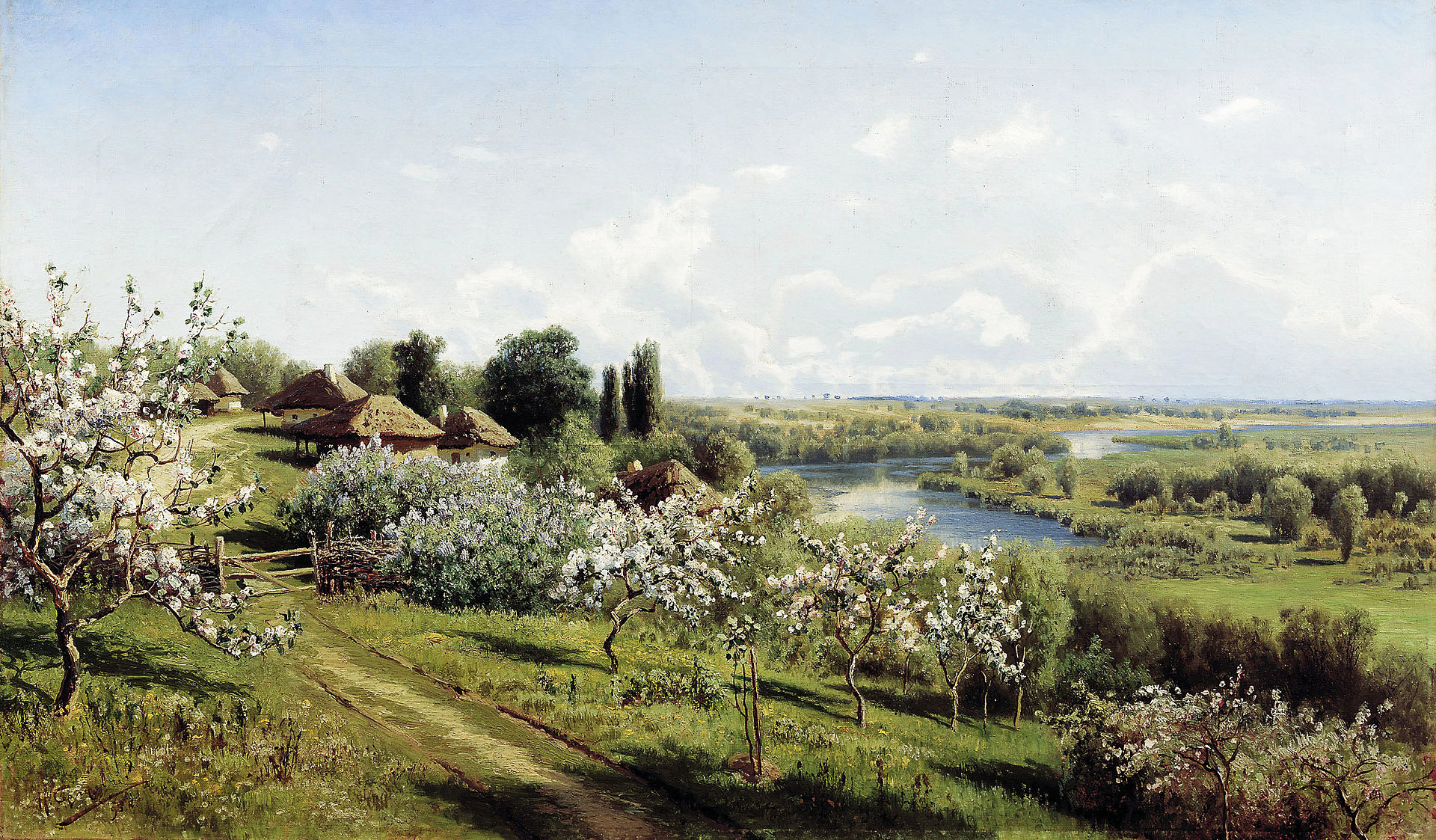 Nikolay Sergeyev Apple blossom in Little Russia
